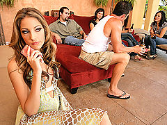 It?s Saturday and everyone is over at Brett?s house chilling and hanging out. Jenna gets bored of just sitting around and wants to play a game! Brett suggests a few things to liven the party up and they both decide to play an old school game?Simon Says ba